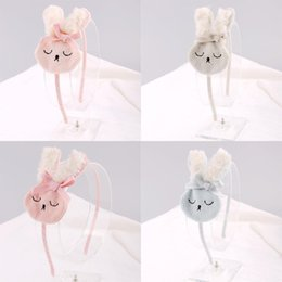 Wholesale rabbit stick - lovely Rabbit Bow Children hair Stick Baby Girls Hair accessories Kids Birthday party Sweet Bunny Hairs ornament