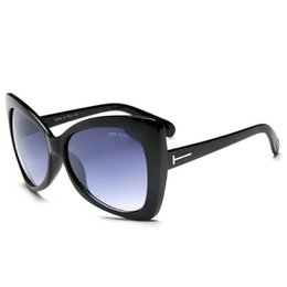 schmetterlingseinkaufen Rabatt Heißer Verkauf Cateye TF175 Sonnenbrille Frau neue populäre U.S.brand Tom Sonnenbrille Dame fahren Shopping Designer Schmetterling Brillen
