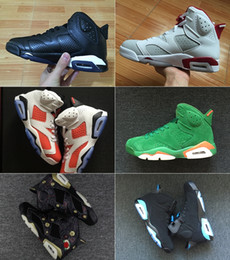 Wholesale Leather Cat - 2018 Mens and Womens Basketball Shoes 6S Black Cat Alternate Gatorade Green University Blue Carmine for Men Sneakers Athletics Boots