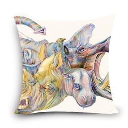 "Wholesale Hot Water Pillow - Wholesale- 2016 hot sale high quality cheap pillows Print Home Decorative Cushion 18"" Vintage Cotton Linen Square Throw Pillow MYJ-F4"