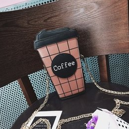 Wholesale Money Cup - 2017 new fashion casual coffee cup zero-money bag mobile phone single-shoulder bag mobile phone bag mini