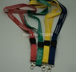 Collana a corda personalizzata online-Cordini per scrittura personalizzati unisex Portachiavi personalizzati LOGO Sport ID badge Portachiavi Sport tracolla EG-WLD120