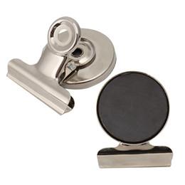 Argentina 5 unids / lote 3 cm forma redonda refrigerador imán de metal Clip de tono de plata magnética refrigerador nota de la pared nota titular del mensaje Suministro