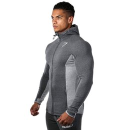 Wholesale Cotton Cardigan Sweaters Men - Muscle brothers hot fashion color mixed fitness running jacket men's sports casual wear cardigan zipper hooded sweater M-XXL