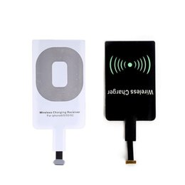 Qi wireless ladegerät empfänger apfel online-Qi Drahtlose Ladegerät Ladeempfänger Modul Aufkleber ladeadapter Für IPhone X 7 5 5C 5 S 6 6 S Plus Für Samsung Android iphone Universal