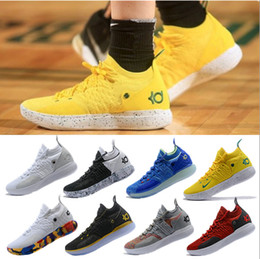 7d76d2f40df7 2019 New Kevin Durant 11 Basketball Shoes Men KD 11 Gold Championship MVP  Finals Sports Shoes training Sneakers Running Shoes Size 7-12