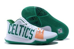 Wholesale Online Shoes Stores - Hot Kyrie Irving 3 Celtics shoes for sale Top Quality Kyrie Basketball shoes discount online store free shipping size 40-46