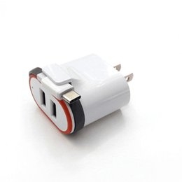 Wholesale Micro Usb Charger Wall Port - 2018 NEW 2.1A Fast chargeing Dual Port Wall Charger with Micro USB Charger Cable For Smart Phone dhl FREE