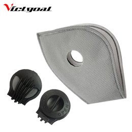 Wholesale Blue Gold Filter - VICTGOAL Anti-Pollution Cycling Masks Filter Mouth-Muffle Dust Bicycle Sports Road Cycling Mask Face Cover Filter 3 Pcs F1703