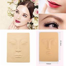 Wholesale fake skin makeup - 3D Silicone Permanent Makeup Skin Lip Eye Eyebrow Makeup Tattooing Fake Training Practice Skin Face Training Tool LJJA475