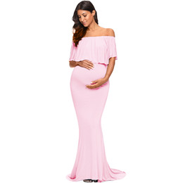 f63e553da2280 pregnancy props for photography Promo Codes - Maxi Photography Props  Maternity Dresses for Photo Shoot Shoulderless