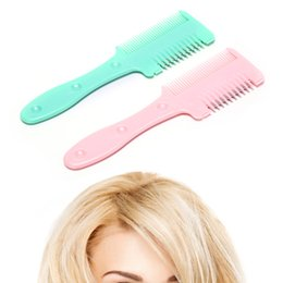 cuts for thin hair Coupons - Durable Home Hairdresser Makeup Tools Hair Cutting Trimmer Razor Blade Comb for Thinning Bangs Long Beauty Hair Cut Accessories