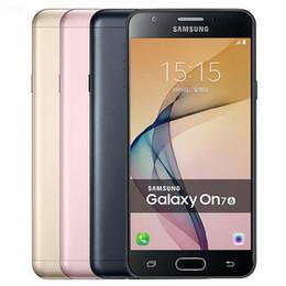 Ricondizionato originale Samsung Galaxy On7 2016 G6100 Dual SIM 5,5 pollici Octa Core 3 GB RAM 32 GB ROM 13 MP Android 4G LTE Telefono cellulare gratuito DHL 1 pz da
