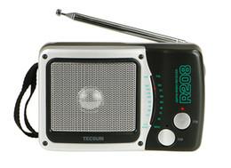 degen rádios portáteis Desconto TECSUN R-208 Pequeno Porte FM / AM 2 Banda Portátil Durável Rádio R208 Rádio Receptor Alta Sensibilidade VS Degen