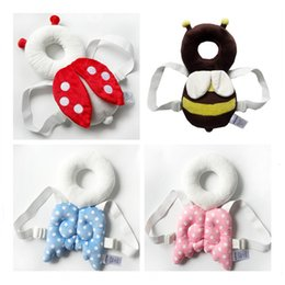 Wholesale Infant Head Protection - Baby Head Protection Pad infant Cute Wings Anti Crash Pad Style Cotton Toddler Headrest Pillows Prevent Fall Down