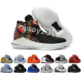 Wholesale chinese yellow - 2018 New 32 Chinese New Year Men Basketball Shoes High Quality XXXII 32s Hornets Mens Trainers Sports Sneakers Size 40-46