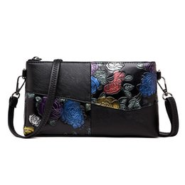 42552e733 Chinese Day Clutches Hand Painted Flower Women messenger shoulder bag  Leather luxury handbags women bags designer