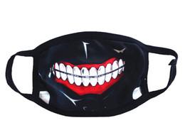 лицо tokyo ghoul kaneki Скидка Токио упырь 2 Kaneki Кен ужас Хэллоуин косплей Маска зима хлопок смешно теплый рот анти-пыль маска для лица