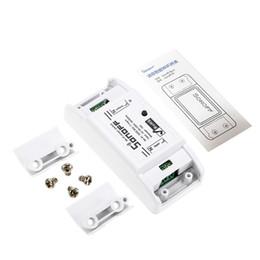 Interruttore remoto senza fili online-SONOFF Wireless Switch Switch App Modulo di controllo remoto di automazione per smartphone Android Apple 10A 220V Funziona con Alexa