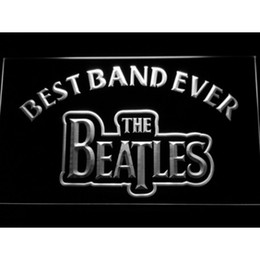 Wholesale Neon Sign Bands - 7 Colors The Beatles Best Band Ever LED Neon Sign Light Football Custom Neon Signs led signs Design Your Own Bar Signs Drop Ship