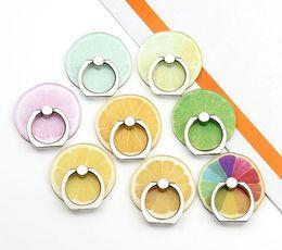 2019 tierfruchtstand Universal Fashion Cartoon Obst Tier Ring Halter 360 Grad Handy Stand Universal Ring Haken Halterung für Mobiltelefone rabatt tierfruchtstand