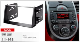 Комплект для радиомонтажа онлайн-CARAV 11-148 TOP quality car radio installation dash mount kit stereo install for KIA Soul 2008-2011 2-DIN