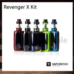 Wholesale x mini green - Vaporesso Revenger X Kit With Improved 5ml NRG Tank 2ml NRG Mini Tank TPD Version 220W Revenger X Mod IML Design OMNI Board 100% Original