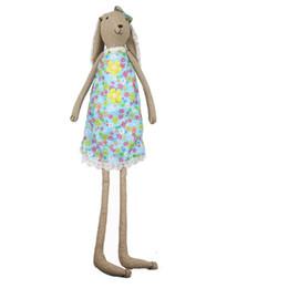 Deutschland 65cm schöne Kaninchen Schwester Puppe Blume Rock Puppen Ostern Geschenk Mädchen Geburtstagsgeschenk Osterhase Versorgung