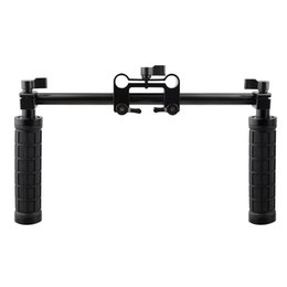 Wholesale 15mm Rod Rig Handles - CAMVATE Camera Handle Grip 15mm Rod Clamp Support Rail System DSLR Shoulder Rig Studio Photo Accessories C1049
