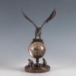 Aigle en laiton antique en Ligne-Horloge aigle mécanique européenne classique en laiton exquis