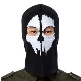 máscara de fantasma rosto cheio Desconto 2018 esportes ao ar livre fantasma máscaras completas chapelaria quente cachecol tecido de secagem rápida chapéu tático máscara múltipla desgaste 2 estilos b25