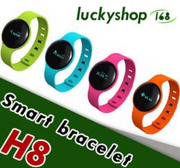2019 smart watches h8 H8 Smart Armband Bluetooth Armbänder Schlaf Tracker Sportuhr für iPhone IOS Android mit Kleinpaket rabatt smart watches h8
