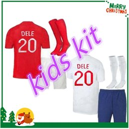 Wholesale sports jersey kits - 2018 kids kit World Cup sports home away Jersey WALCOTT KANE Rooney STERLING football Shirts 18 19 DELE soccer Training suit jerseys