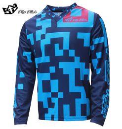 Wholesale bmx jersey xl - 2018 FLY FISH RACING Moto GP Mountain Bike Motocross Jersey BMX DH MTB T Shirt Clothes Blue