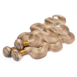 cabelos loiros curtos naturais da trama Desconto Mel loira e loiro Mix Hair Extension onda do corpo Virgin Malásia Humano 3Pcs Cabelo ofertas Piano Cor do cabelo casamento