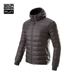 Wholesale Light Down Jacket Women S - Wholesale-BMAI Running Jacket Men&Women Ultra-Light Winter Warm Down Sports Clothing Windproof Long Sleeve Jacket Waterproof Lovers