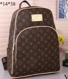 Wholesale backpack laptop fashion - Luxury brand women bag School Bags PU leather Fashion Famous designers backpack women travel bag backpacks laptop bag