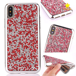 Wholesale Note Diamond Bling Case - For iPhone 8 Plus iPhone X Case Diamond Crystal Luxury Glitter Bling Soft TPU Phone Cover Case for Samsung S8 Plus Note 8