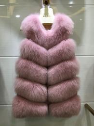 gilet long en jean bleu Promotion Big Promotion luxe veste sans manches pour les femmes gilet de fourrure bouffante hiver chaud gilets en fausse fourrure, plus la taille