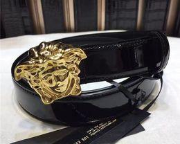 cuero repujado oro Rebajas 2018Designer alta calidad vestido de fiesta hombres mujeres cinturones oro plata serpiente hebilla de cuero en relieve cinturón, envío gratis + caja blanca
