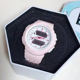 Relojes de alarma analógicos online-Relojes de pulsera de lujo para mujer de color 2019 Estilo de choque Reloj despertador LED Reloj Fecha automática Relojes de pulsera de cuarzo analógico digital Relojes Dropshipping