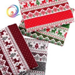 Serie natalizia, tessuto in lino cotone stampato per patchwork trapuntato fai da te divano, tovaglia, tenda, borsa, materiale cuscino cheap linen christmas table cloths da biancheria da tavola di natale fornitori