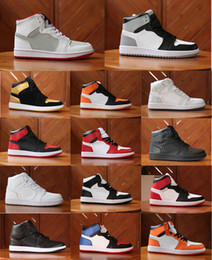 Wholesale Mandarin Ducks - wholesale Top Men Basketball Shoes Mens Air Retro 1 Retros 1s OG Sneakers AAA Quality Mandarin duck Trainers Mens Sport Shoes Size 40-47