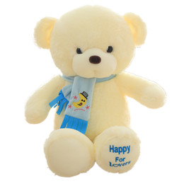 30cm Home Bed Sofa Peluche Toys Teddy Bear Bambini Regalo di compleanno Happy Scarf Teddy Bear Doll 3444 da
