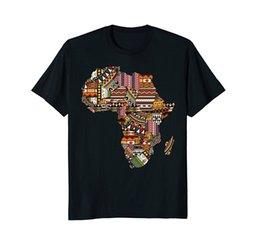 NOUVEAU mode décontractée floral imprimé t-shirt fierté africaine traditionnelle motif ethnique afrique carte hommes grande taille t-shirts / tops ? partir de fabricateur
