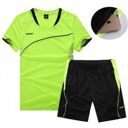 оптовая спортивная одежда для детей Скидка Оптовая продажа-2 шт. работает наборы мужчины дети спортивная одежда с коротким рукавом одежда фитнес баскетбол теннис футбол тренажерный зал одежда спортивные костюмы 5XL