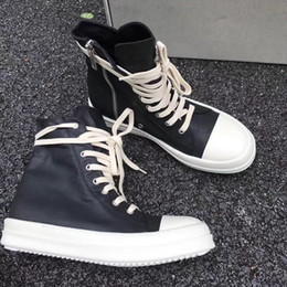Wholesale high quality work shoes - original quality 2016ss R O High End Customized owen DRKSH*W WAX high top shoes