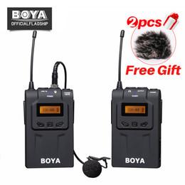 2019 боя-микрофон BOYA BY-WM6 UHF Wireless Microphone System 48 Channel Omni-directional Lavalier Microphone For Canon Nikon DSLR Camcorders скидка боя-микрофон