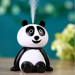 Wholesale Spa Purifier - Creative Panda Touch Air Humidifier Ultrasonic USB Diffuser Mist Maker Purifier Fogger Humidifier for Home Office Car Spa Gifts