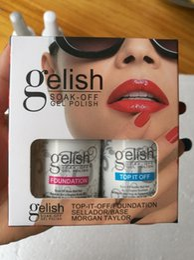 Polish gelish led online-Base Top Coat Nail Art Soak Off Gel LED Nail Polish Gelish 2Pcs / Lot Foundation Top-it-Off